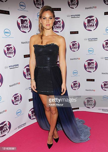 Model Bar Refaeli attends the MTV Europe Music Awards 2011 at the Odyssey Arena on November 6 2011 in Belfast Northern Ireland