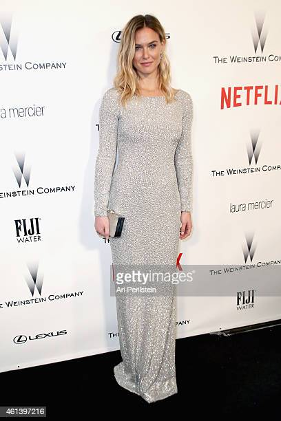 Model Bar Refaeli attends The Weinstein Company & Netflix's 2015 Golden Globes After Party presented by FIJI Water, Lexus, Laura Mercier and Marie...