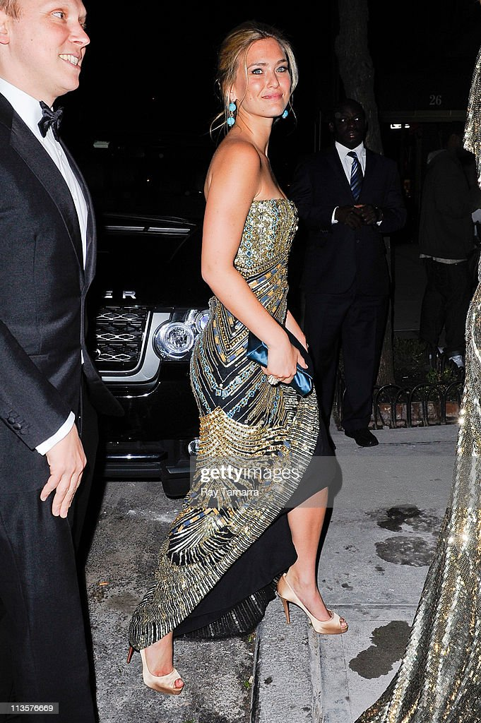 Model Bar Refaeli enters the Crown Restaurant on May 2, 2011 in New York City.