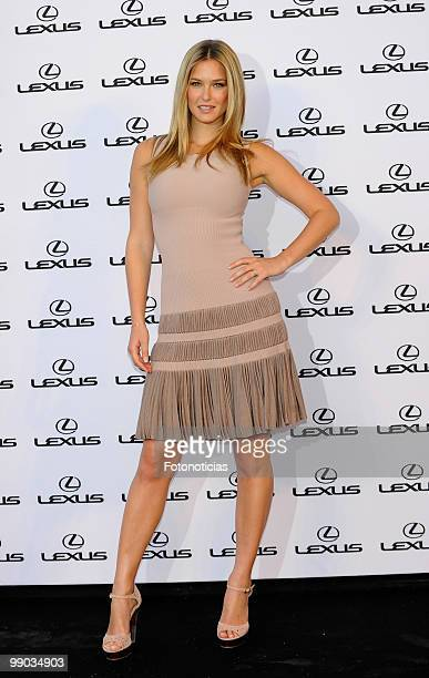 Model Bar Refaeli hosts a 'Lexus' party at the Villamagna Hotel on May 11 2010 in Madrid Spain