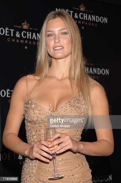 Model Bar Refaeli launches new Mot Chandon Star of the night bottle on September 18 2006 at Retiro Park in Madrid Spain