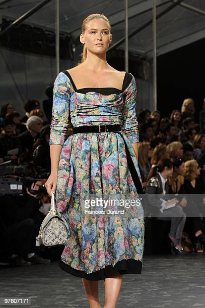 Model Bar Refaeli walks the runway during the Louis Vuitton Ready to Wear show as part of the Paris Womenswear Fashion Week Fall/Winter 2011 at Cour...