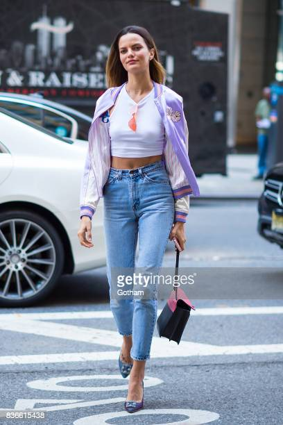 Model Barbara Fialho attends call backs for the 2017 Victoria's Secret Fashion Show in Midtown on August 21 2017 in New York City