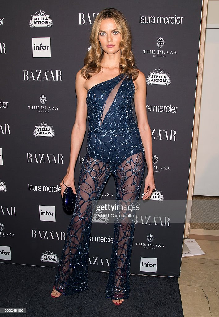 Model Barbara Fialho attends Harper's BAZAAR Celebrates 'ICONS By Carine Roitfeld' at The Plaza Hotel on September 9, 2016 in New York City.