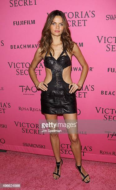 Model Barbara Fialho attends the 2015 Victoria's Secret Fashion Show after party at TAO Downtown on November 10 2015 in New York City