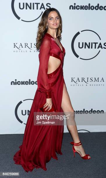 Model Barbara Fialho attends the 2017 Unitas Gala at Capitale on September 12 2017 in New York City