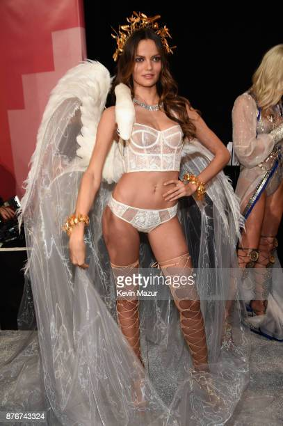 Model Barbara Fialho poses backstage during 2017 Victoria's Secret Fashion Show In Shanghai at MercedesBenz Arena on November 20 2017 in Shanghai...