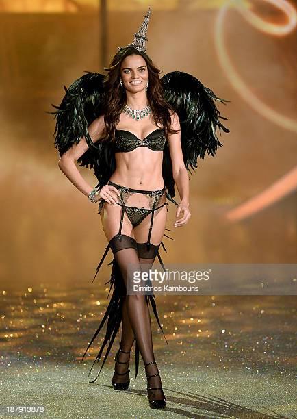 Model Barbara Fialho walks the runway at the 2013 Victoria's Secret Fashion Show at Lexington Avenue Armory on November 13 2013 in New York City