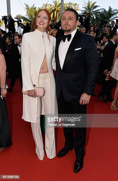 Model Barbara Meier and Klemens Hallmann attend the 'Julieta' premiere during the 69th annual Cannes Film Festival at the Palais des Festivals on May...