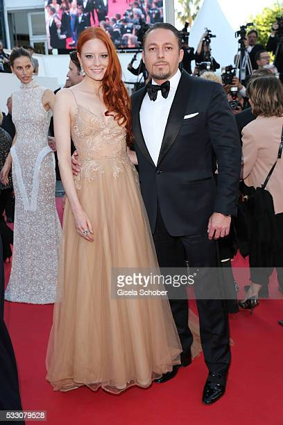 Model Barbara Meier and Klemens Hallmann attend 'The Last Face' Premiere during the 69th annual Cannes Film Festival at the Palais des Festivals on...