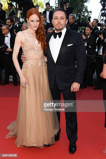 Model Barbara Meier and Klemens Hallmann attend the screening of 'The Last Face' at the annual 69th Cannes Film Festival at Palais des Festivals on...