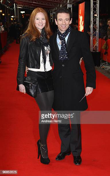 Model Barbara Meier and producer Oliver Berben attend the 'Boxhagener Platz' Premiere during day six of the 60th Berlin International Film Festival...