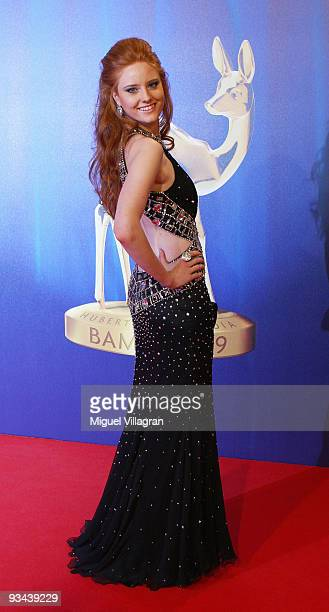 Model Barbara Meier arrives to the Bambi Awards 2009 at the Metropolis Hall at the Filmpark Babelsberg on November 26 2009 in Potsdam Germany
