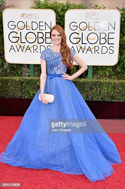 Model Barbara Meier attends the 73rd Annual Golden Globe Awards held at the Beverly Hilton Hotel on January 10 2016 in Beverly Hills California