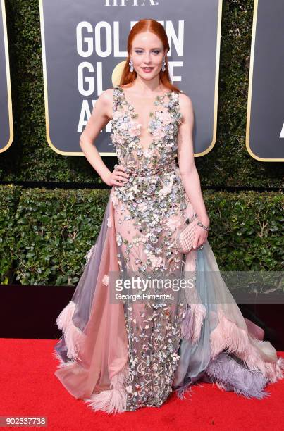 Model Barbara Meier attends The 75th Annual Golden Globe Awards at The Beverly Hilton Hotel on January 7 2018 in Beverly Hills California
