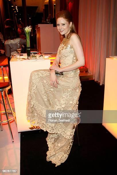 Model Barbara Meier attends the Goldene Kamera 2010 Award at the Axel Springer Verlag on January 30 2010 in Berlin Germany