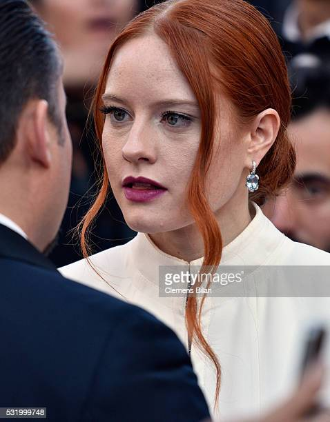 Model Barbara Meier attends the 'Julieta' premiere during the 69th annual Cannes Film Festival at the Palais des Festivals on May 17 2016 in Cannes...