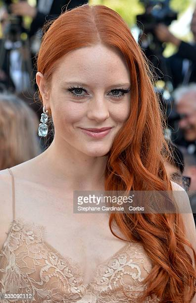 Model Barbara Meier attends 'The Last Face' Premiere during the 69th annual Cannes Film Festival at the Palais des Festivals on May 20 2016 in Cannes...