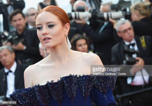 Model Barbara Meier attends 'The Meyerowitz Stories' premiere during the 70th annual Cannes Film Festival at Palais des Festivals on May 21 2017 in...