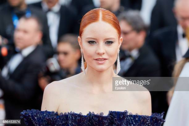 Model Barbara Meier attends the 'The Meyerowitz Stories' screening during the 70th annual Cannes Film Festival at Palais des Festivals on May 21 2017...