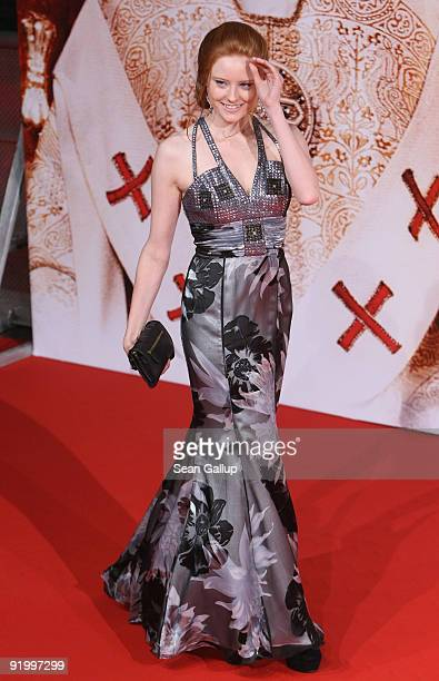 Model Barbara Meier attends the world premiere of 'Pope Joan' at the Sony Center CineStar on October 19 2009 in Berlin Germany