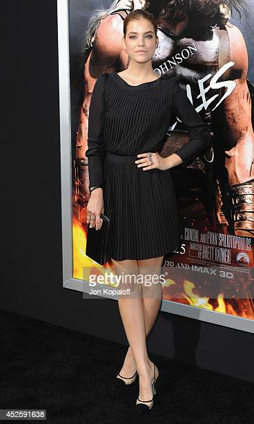 Model Barbara Palvin arrives at the Los Angeles Premiere Hercules at TCL Chinese Theatre on July 23 2014 in Hollywood California
