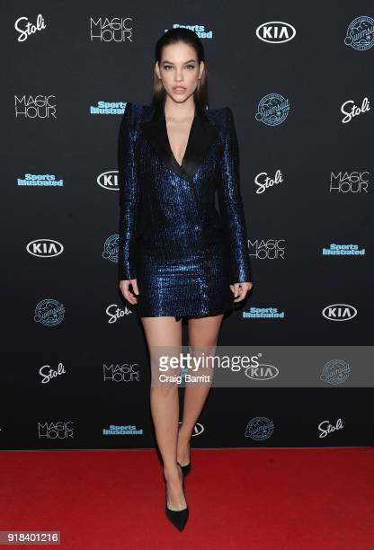 Model Barbara Palvin attends Sports Illustrated Swimsuit 2018 Launch Event at Magic Hour at Moxy Times Square on February 14 2018 in New York City