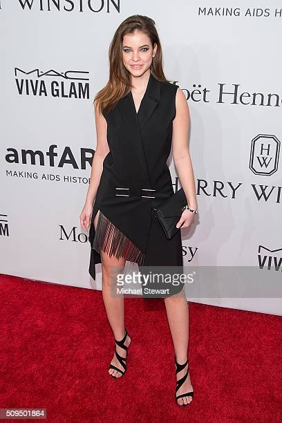 Model Barbara Palvin attends the 2016 amfAR New York Gala at Cipriani Wall Street on February 10 2016 in New York City