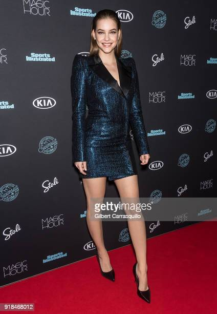 Model Barbara Palvin attends the 2018 Sports Illustrated Swimsuit Issue Launch Celebration at Magic Hour at Moxy Times Square on February 14 2018 in...