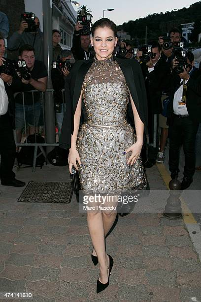 Model Barbara Palvin attends the 'CHANEL' dinner at 'Tetou' restaurant during the 68th annual Cannes Film Festival on May 20 2015 in Cannes France