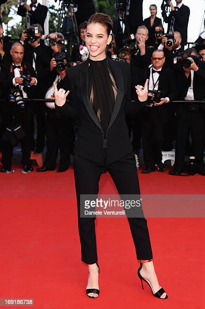 Model Barbara Palvin attends the Premiere of 'Cleopatra' during the 66th Annual Cannes Film Festival at the Palais des Festivals on May 21 2013 in...