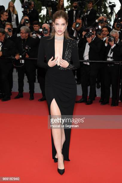Model Barbara Palvin attends the screening of Burning during the 71st annual Cannes Film Festival at Palais des Festivals on May 16 2018 in Cannes...