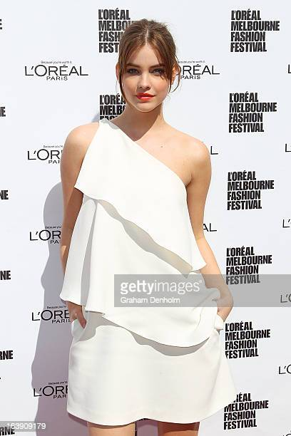 Model Barbara Palvin poses at the L'Oreal Paris Luncheon on day one of L'Oreal Melbourne Fashion Festival on March 18 2013 in Melbourne Australia