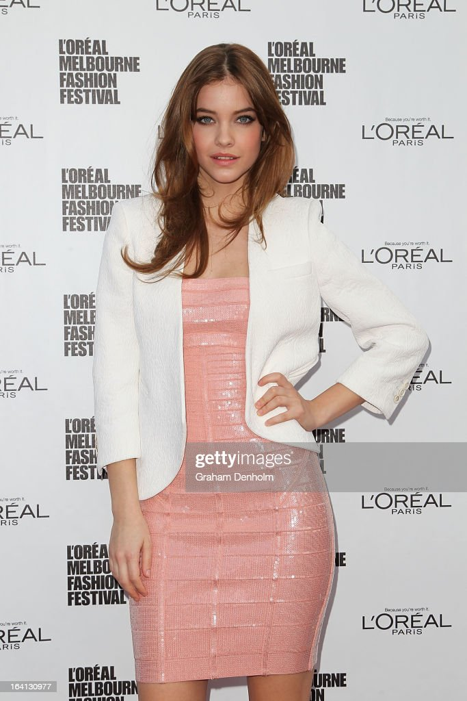 Model Barbara Palvin poses prior to the L'Oreal Paris Runway 1 show during day three of L'Oreal Melbourne Fashion Festival on March 20, 2013 in Melbourne, Australia.