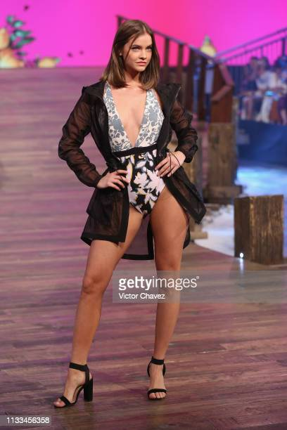 Model Barbara Palvin walks the runway during the Liverpool Fashion Fest Spring/ Summer 2019 at Quarry Studios on March 28 2019 in Mexico City Mexico