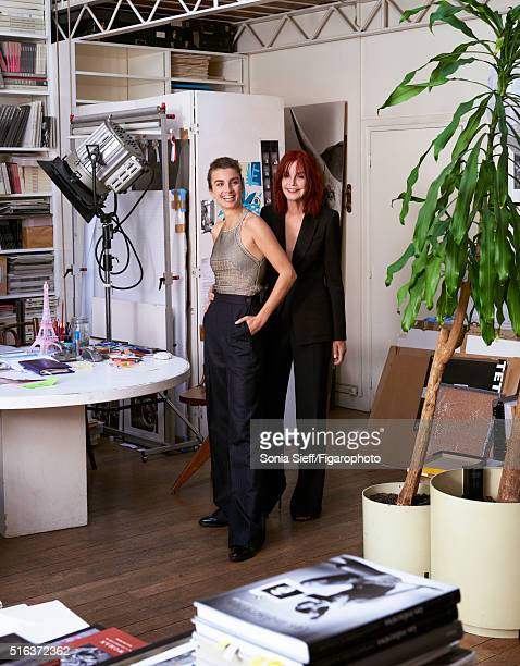 Model Barbara Sieff and photographer Sonia Sieff are photographed for Madame Figaro on December 8 2015 in Paris France Barbara Pants and top shoes...