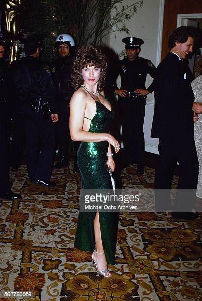 Model Barbi Benton arrives to the 55th Academy Awards at Dorothy Chandler Pavilion in Los AngelesCalifornia