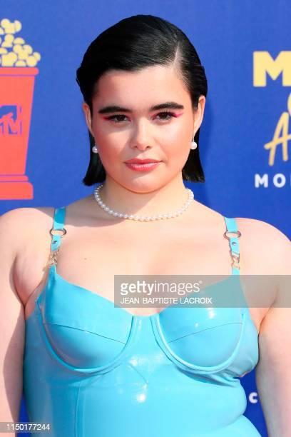 US model Barbie Ferreira arrives for the 2019 MTV Movie TV Awards at the Barker Hangar in Santa Monica on June 15 2019 The 2019 MTV Movie TV Awards...