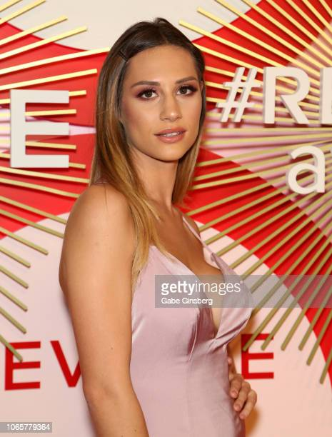Model Beatrice Valli attends Revolve's second annual #REVOLVEawards at Palms Casino Resort on November 9 2018 in Las Vegas Nevada