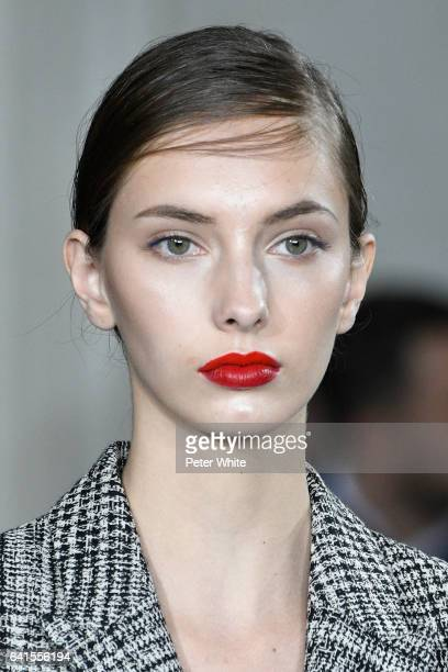 A model beauty detail walks the runway during Jason Wu show during New York Fashion Week at The St Regis on February 10 2017 in New York City