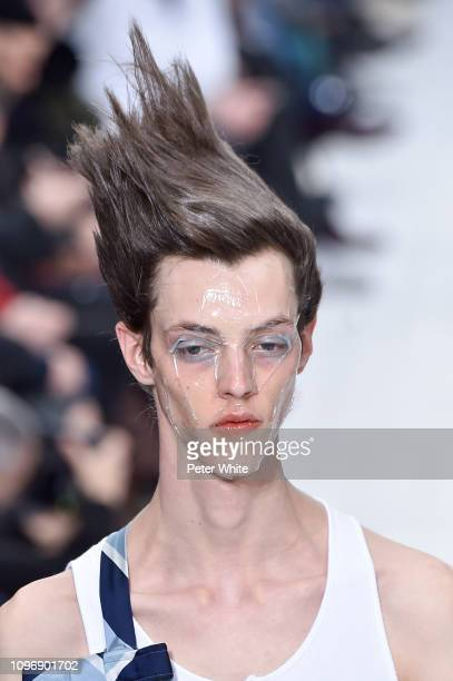 A model beauty detail walks the runway during the Thom Browne Menswear Fall/Winter 20192020 show as part of Paris Fashion Week on January 19 2019 in...