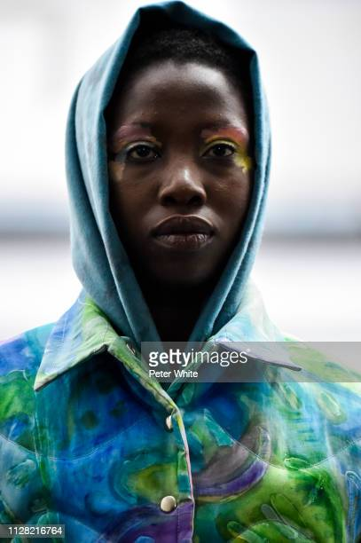 A model beauty runway detail walks the runway at the Collina Strada fashion show during New York Fashion Week on February 07 2019 in New York City