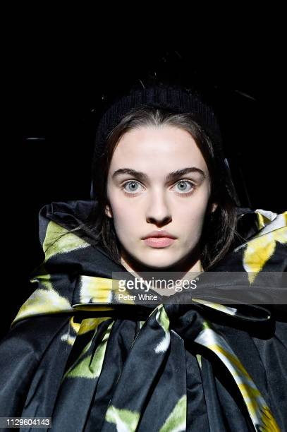 A model beauty runway detail walks the runway at the Marc Jacobs fashion show during New York Fashion Week on February 13 2019 in New York City