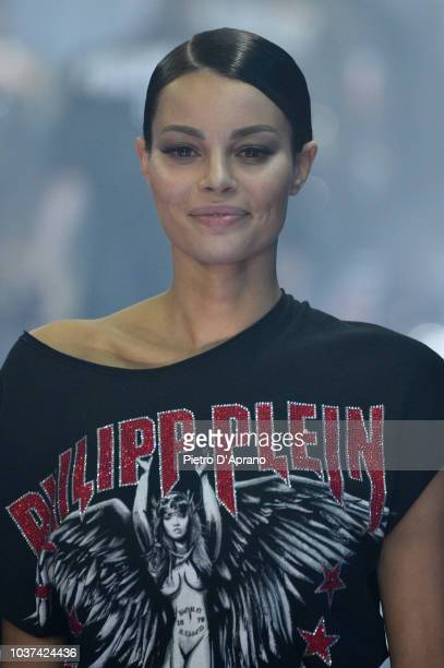 A model beauty runway detail walks the runway at the Philipp Plein show during Milan Fashion Week Spring/Summer 2019 on September 21 2018 in Milan...