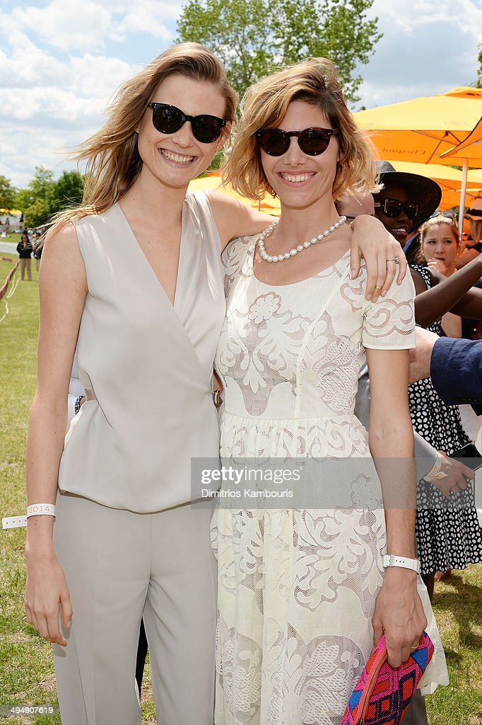 Model Behati Prinsloo (L) and Delfina Blaquier attend the seventh annual Veuve Clicquot Polo Classic in Liberty State Park on May 31, 2014 in Jersey City City.