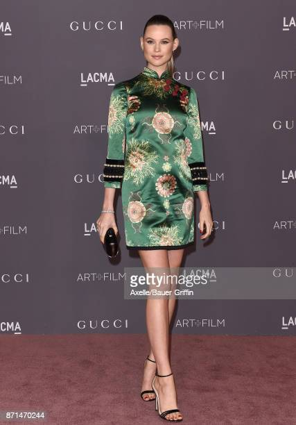 Model Behati Prinsloo arrives at the 2017 LACMA Art Film Gala at LACMA on November 4 2017 in Los Angeles California