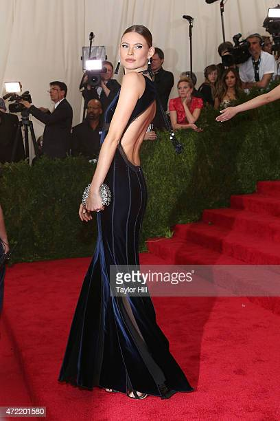 Model Behati Prinsloo attends 'China Through the Looking Glass' the 2015 Costume Institute Gala at Metropolitan Museum of Art on May 4 2015 in New...
