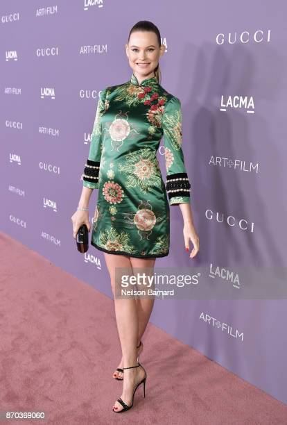 Model Behati Prinsloo attends the 2017 LACMA Art Film Gala Honoring Mark Bradford and George Lucas presented by Gucci at LACMA on November 4 2017 in...