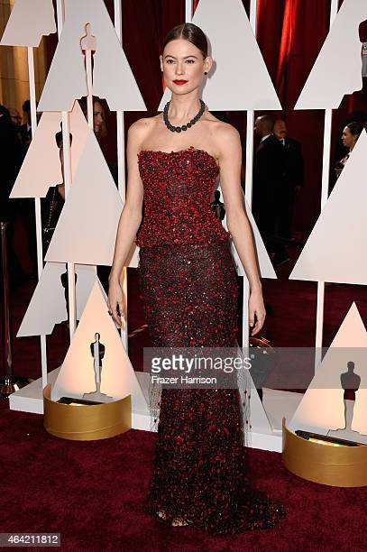 Model Behati Prinsloo attends the 87th Annual Academy Awards at Hollywood Highland Center on February 22 2015 in Hollywood California
