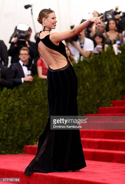 Model Behati Prinsloo attends the 'China Through The Looking Glass' Costume Institute Benefit Gala at the Metropolitan Museum of Art on May 4 2015 in...